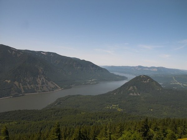 The Columbia River Gorge creates a wind tunnel through the Cascade Range of the Pacific Northwest.