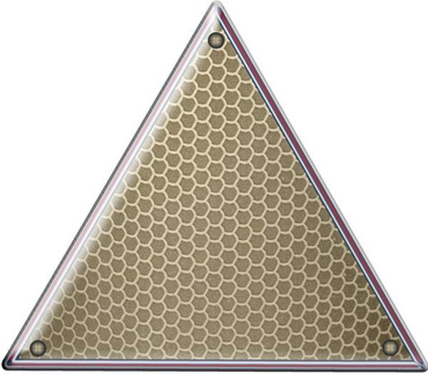 Shape of a triangle.