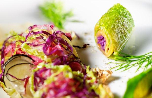 Los productos de L'Arpège provienen de la granja biodinámica de su propio chef, Alain Passard.