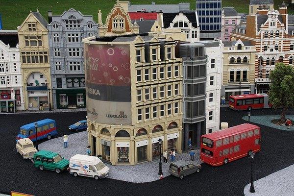 Maqueta gigante de Londres en Legoland.