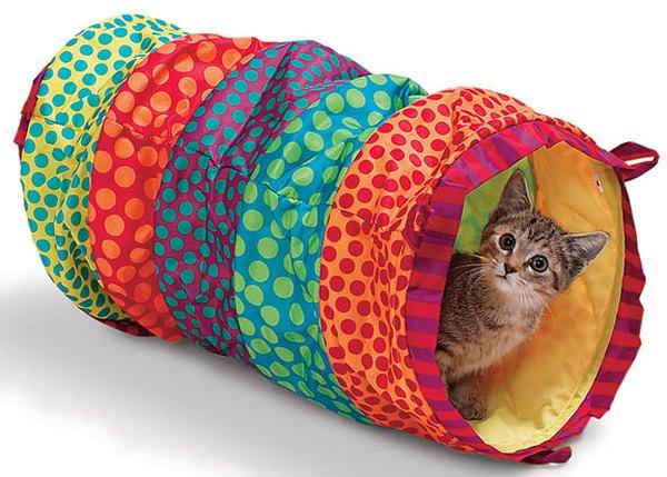 Si tienes un felino juguetón, un túnel lo enloquecerá.