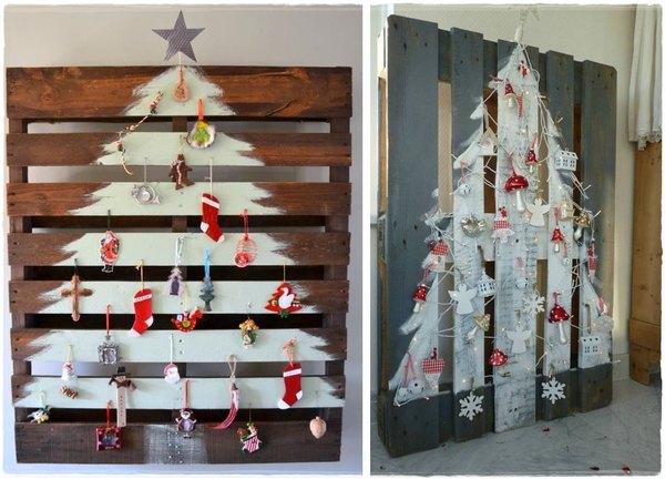Árboles de navidad realizados con pallets