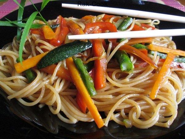 Estos espaguetis son saludables y fáciles de preparar.