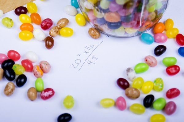 One jelly bean is a unit of distance in this exercise.