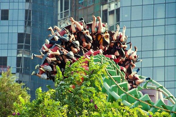 Montaña rusa del Shijingshan Amusement Park en Beijing.