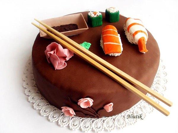 Este pastel está inspirado en el popular plato japonés.