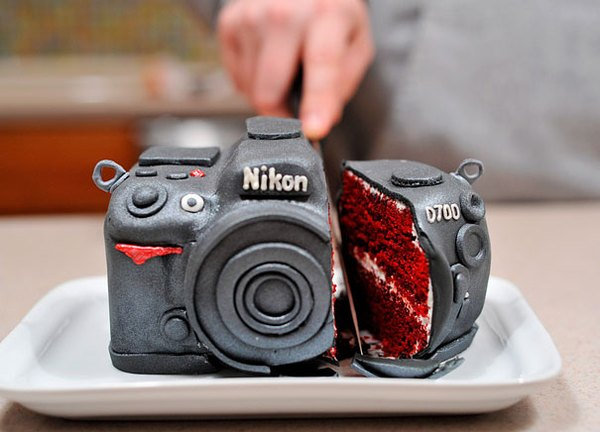 Este pastel es el regalo ideal para un aficionado a la fotografía.