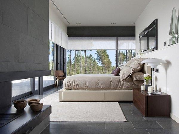 Tons neutros e materiais naturais tornam o ambiente mais relaxante