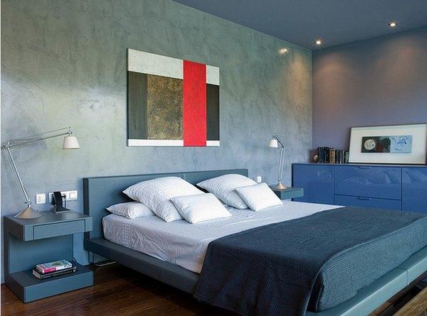 Dê vida e cor ao quarto com tons azuis e cores neutras