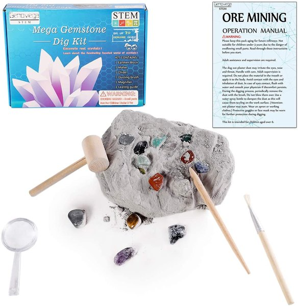 Unearth your own crystals with this kit.