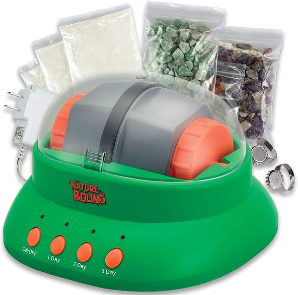 Rock polishing science kit.