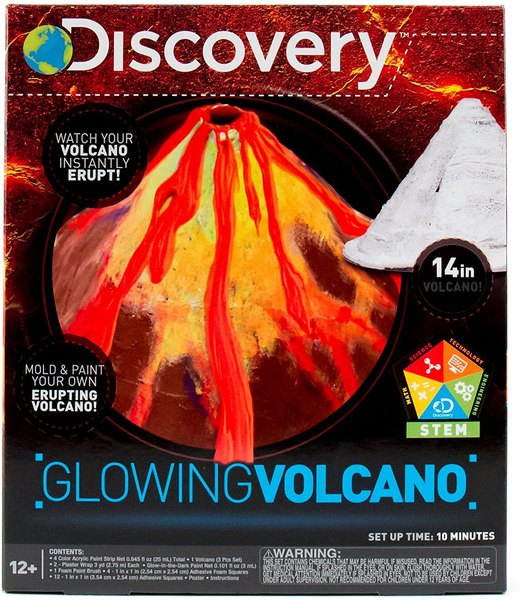 Get artistic by making your own glowing volcano.