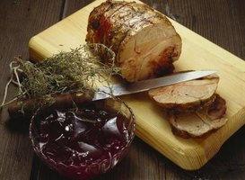 A pork roast is a delicious and hearty meal.