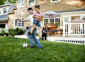 Faster mowing of large spaces means more time for family fun.