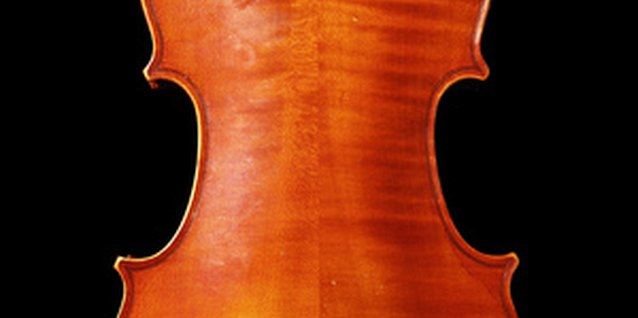 A violin showing the stripes of tiger maple.