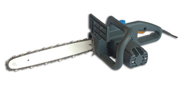 Smaller chain saws are sometimes powered by electricity.