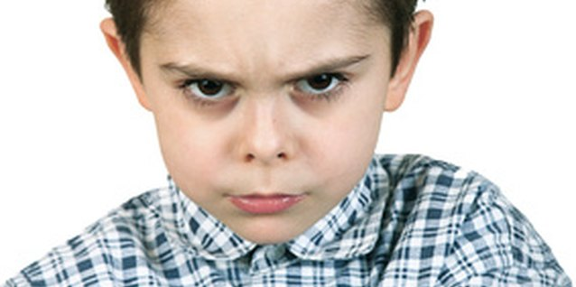 An angry child can learn to control outbursts.