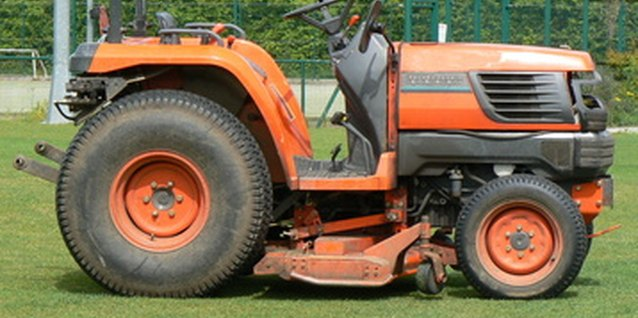 This is an example of a garden tractor-style riding lawn mower.