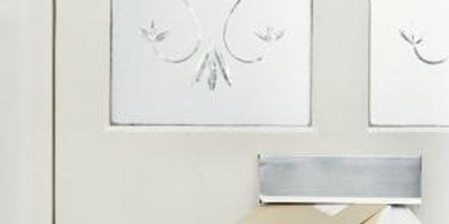 A simple frosted design adds privacy, lets in light and updates your entrance decor.