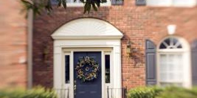 Use the color wheel to choose a color for your brick home's front door.