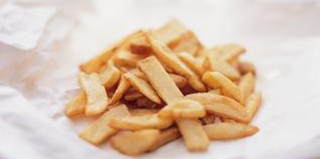 Homemade French fries are low in fat and delicious.