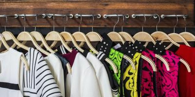 Arrange everyday clothing in a child's closet on a low-hanging rod.