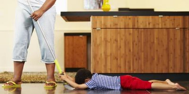 Make cleaning a bonding activity with your little one.
