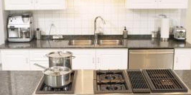 Granite slabs require drilling to mount appliances and hardware.