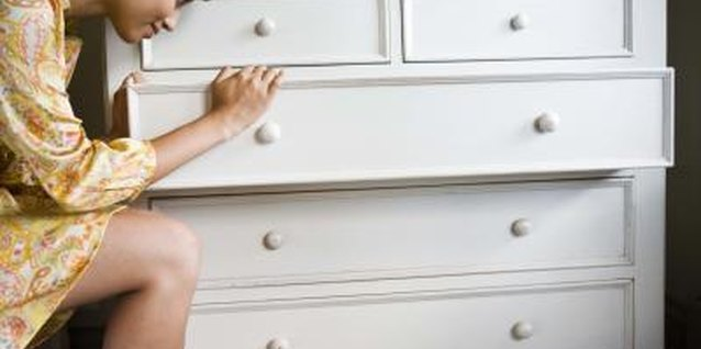 How to Repair the Bottoms of Dresser Drawers