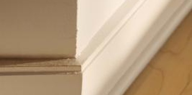 Shoe molding at the base of baseboards can split while you're installing it.