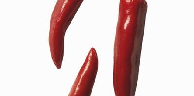 Cayenne peppers are usually picked at the fully mature red stage.
