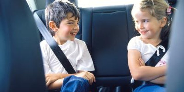 The back seat is the safest place for young passengers.