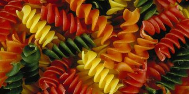 Choose pasta in a wide variety of colors to make crafts more interestesting.