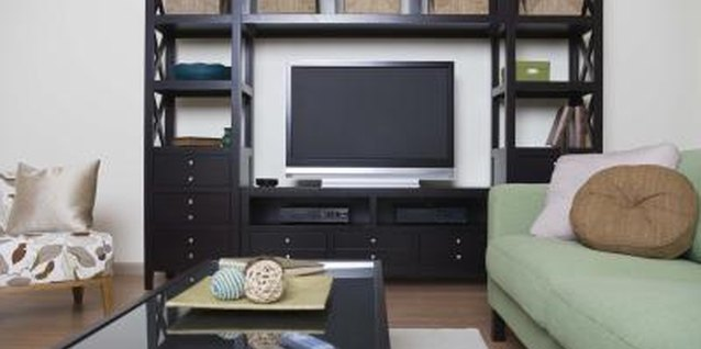 Hide cables to give your living room a cleaner look.
