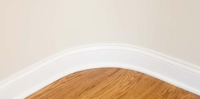 A contrast between the floor and baseboard is often desirable.