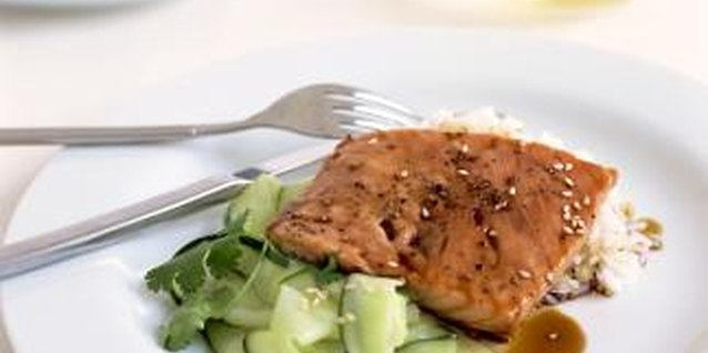 Cooking Marinated Teriyaki Salmon