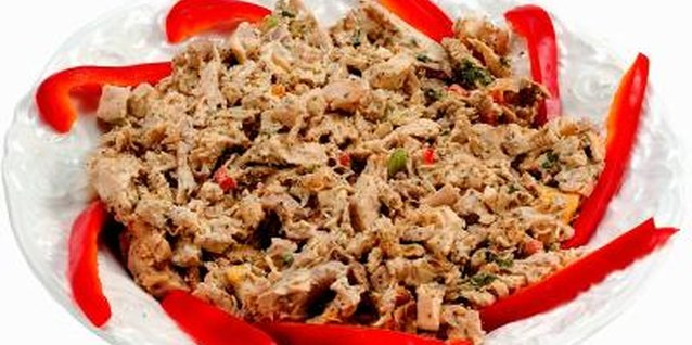 Adding salsa and taco seasonings makes the shredded chicken work well for tacos.