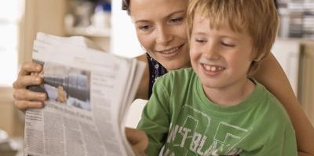 After you've read the funnies, let kids help sort newspaper sections.