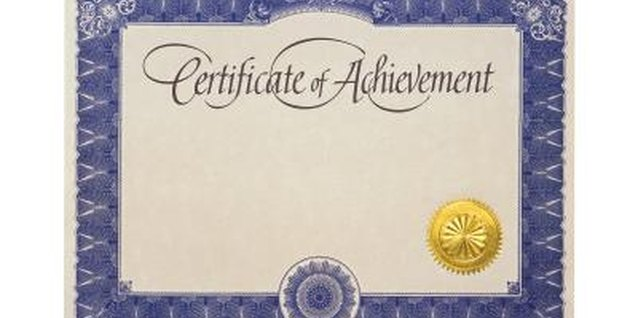 An award certificate is positive reinforcement for a job well done.