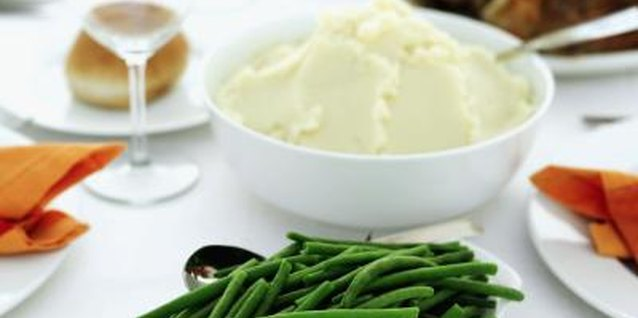 Whipped potatoes complete family-style meals.