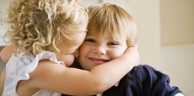 Children love to show their friends and family affection.