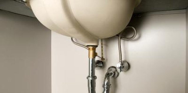 How to Remove One Piece of Drain Pipe on a Bathroom Sink