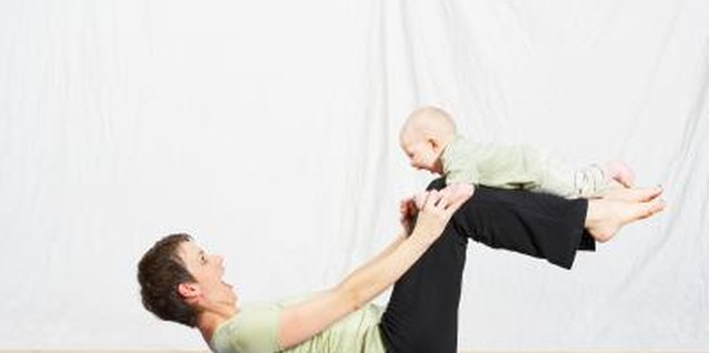 Strengthening your abdominal wall can be done while exercising with your baby.