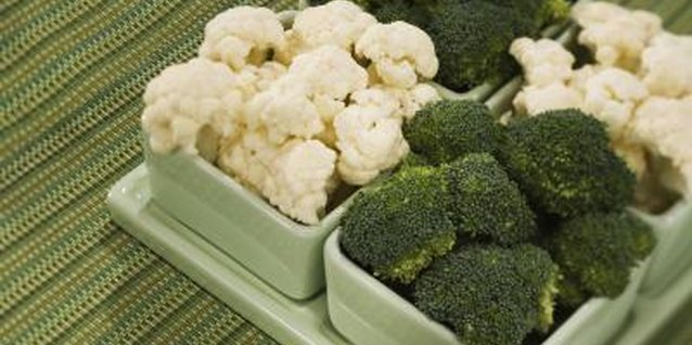 Iron Contained in Broccolli & Cauliflower