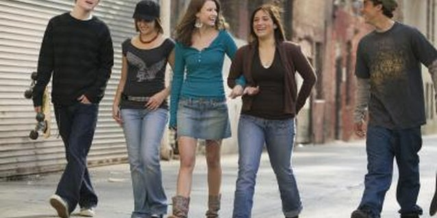 Peer groups can affect the way your teen views clothing.