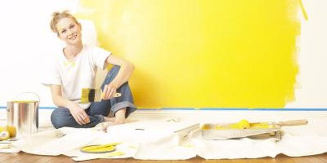 Go ahead and paint with a toddler in the home, but take precautions.