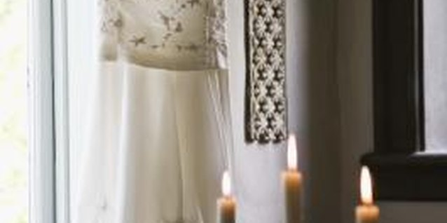 Hang your wedding gown up prior to your wedding to avoid wrinkles.
