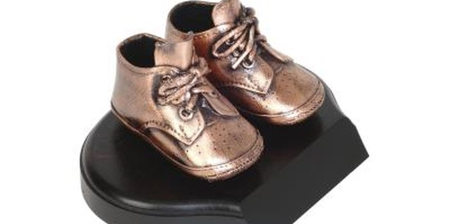 Baby shoes don't have to be strong as bronze to hold up your baby's legs.