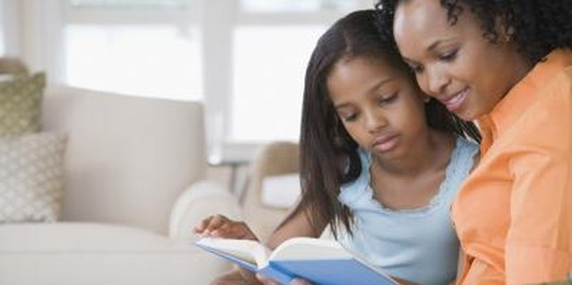 Reading with your child helps her develop language skills.