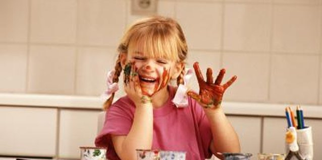 Finger painting can help your child learn.